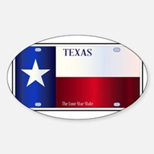 Texas State Flag License Plate Decal