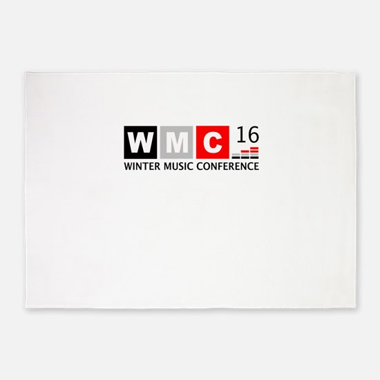 WMC Winter Music Conference 5'x7'Area Rug