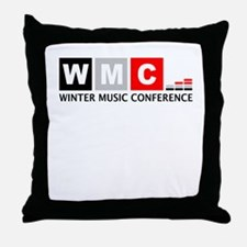 WMC Winter Music Conference Throw Pillow