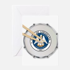 Louisiana Snare Drum Greeting Cards