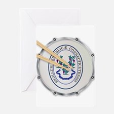 Connecticut Snare Drum Greeting Cards