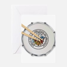 Arkansas Snare Drum Greeting Cards