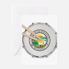 Alaska Snare Drum Greeting Cards