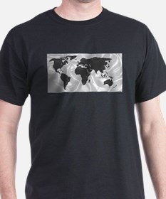 World Outline On Silk Background T-Shirt