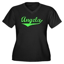 Angela Vintage (Lt Gr) Women's Plus Size V-Neck Da
