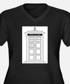 Old Fashioned British Police Box Plus Size T-Shirt
