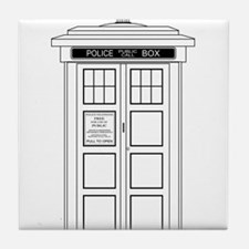 Old Fashioned British Police Box Tile Coaster
