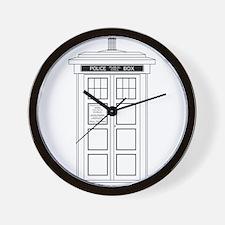 Old Fashioned British Police Box Wall Clock