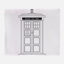 Old Fashioned British Police Box Throw Blanket