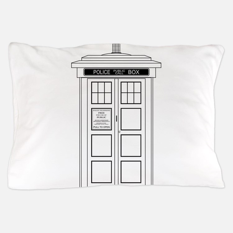 Old Fashioned British Police Box Pillow Case