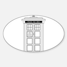 Old Fashioned British Police Box Decal