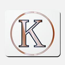 Kappa Greek Letter Mousepad