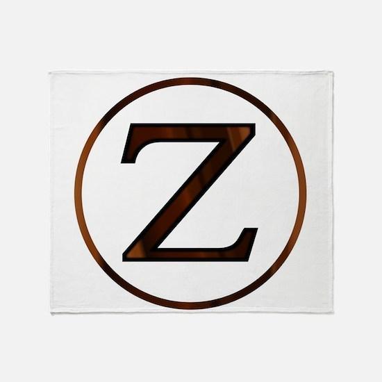 Zeta Greek Letter Throw Blanket