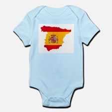 Silhouette Flag Map Of Spain Body Suit