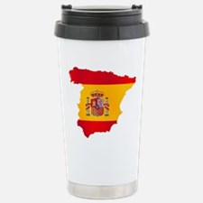 Silhouette Flag Map Of Stainless Steel Travel Mug