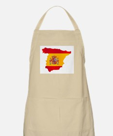 Silhouette Flag Map Of Spain Apron