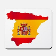 Silhouette Flag Map Of Spain Mousepad
