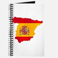 Silhouette Flag Map Of Spain Journal