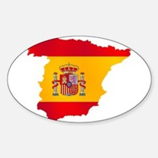 Silhouette Flag Map Of Spain Decal