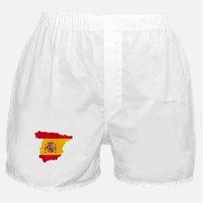 Silhouette Flag Map Of Spain Boxer Shorts