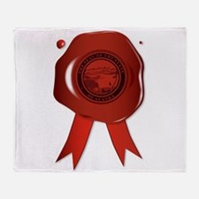 Alaska State Wax Seal Throw Blanket