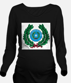 Texas Wreath and Sta Long Sleeve Maternity T-Shirt
