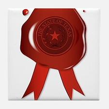 Texas State Wax Seal Tile Coaster