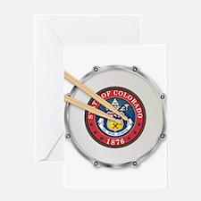 Colorado Snare Drum Greeting Cards