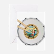 California Snare Drum Greeting Cards