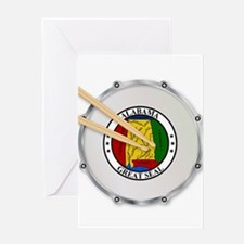 Alabama Snare Drum Greeting Cards