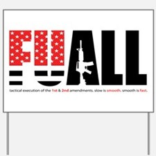 FUALL book cover Yard Sign