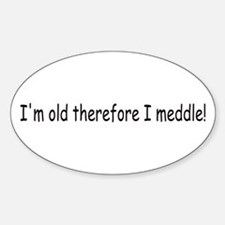 Old Meddle Oval Decal