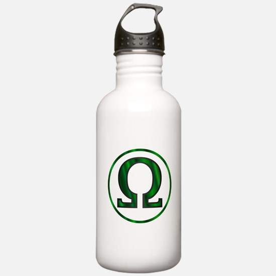Omega Greek Letter Water Bottle