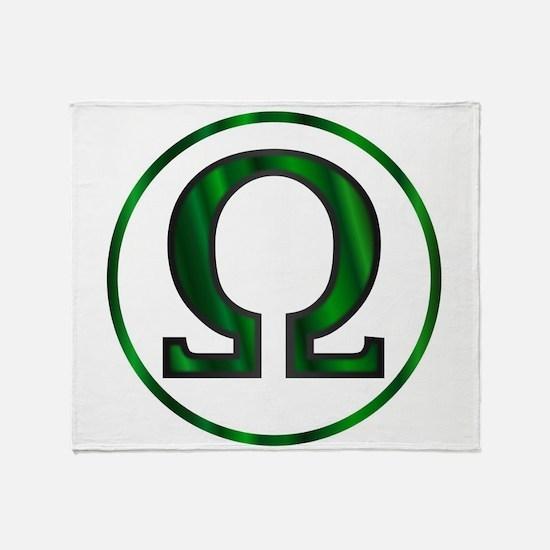 Omega Greek Letter Throw Blanket