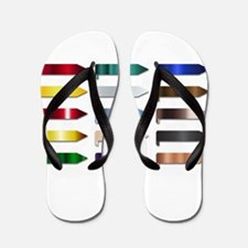 Metal Ribbon Banners Group Flip Flops