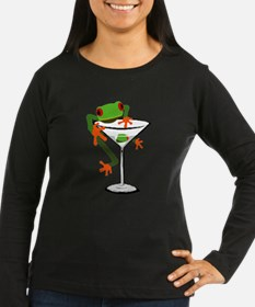 Frog and Martini Long Sleeve T-Shirt