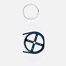 Bicycle Gear And Chain Keychains