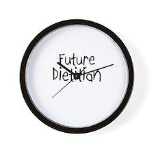 Future Dietitian Wall Clock
