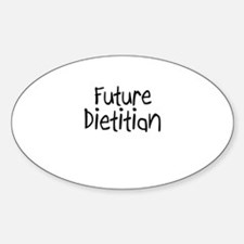 Future Dietitian Oval Decal