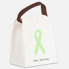 Mint Green: Fear Nothing. Canvas Lunch Bag