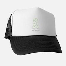Mint Green Outline: Fear Nothing Trucker Hat