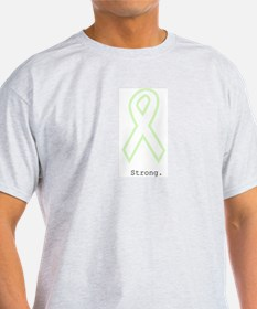 Mint Green Outline. Strong. T-Shirt