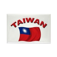 Taiwan Flag Rectangle Magnet