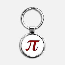 Red Pi Symbol Keychains
