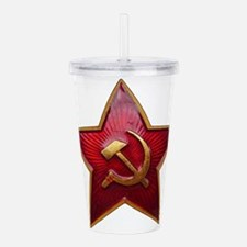 Funny Sickle and hammer Acrylic Double-wall Tumbler