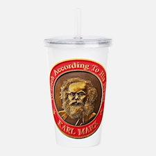 Karl Marx Acrylic Double-wall Tumbler