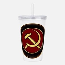 Cool Sickle and hammer Acrylic Double-wall Tumbler