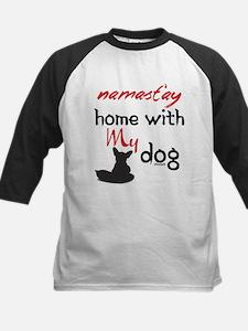 Namast'ay Home With My Dog Baseball Jersey