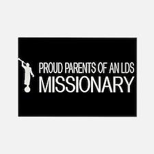 LDS: Proud Missionary Parents (Bl Rectangle Magnet