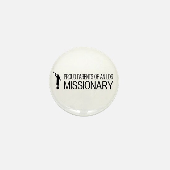LDS: Proud Missionary Parents (White) Mini Button